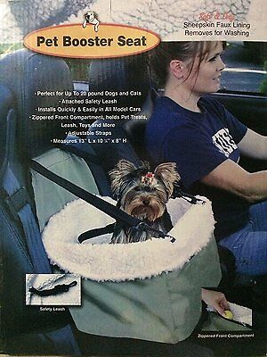 Car Seat For Dog Pet Cat Booster Travel Box Lining Chair Transport Medium Size