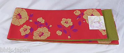 半幅帯 HANHABA OBI japonais - Ceinture japonaise - Made in Japan 122