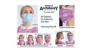 Dental 3-in-1 Sensitive Valumax Archaway Double-Seal Ear-loop MASK 50 per box