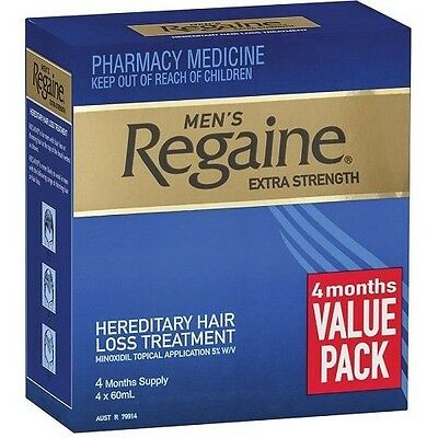 Regaine Men's Extra Strength Solution 4 months 4x60mL