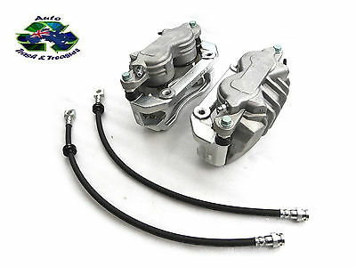 Brake Kit Pbr Calipers Protex Hoses Front Set Suits Ford Au Series 1 & 2 Falcon