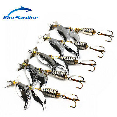 5PCS 15G 10CM Metal Spinner Bait Fishing Lures Spinnierbaits Fishing Tackle