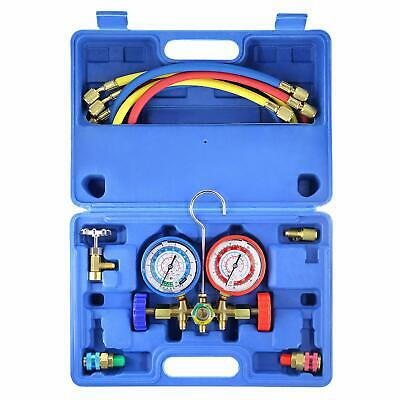 R134a R12 R22 R502 HVAC AC Diagnostic Manifold Gauge 5FT Refrigeration Charging