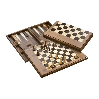 Exclusive Chess-Backgammon-draughts-Set - with magnetic lock