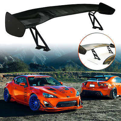 "63"" UNIVERSAL 3D 3DI JDM CARBON FIBER Style Adjustable GT Rear Wing Spoiler New"