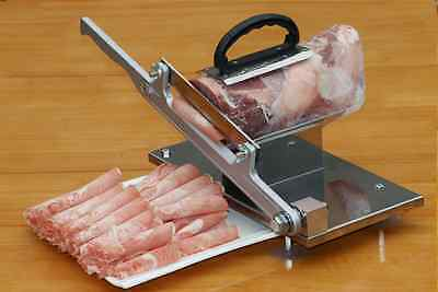 Manual Stainless Steel Vegetable Frozen Meat Slicer Slicing Machine with Handle