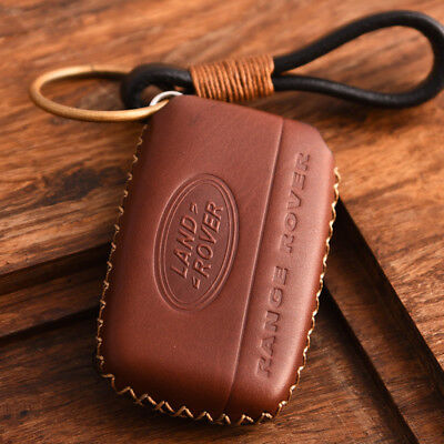 KMT Genuine Leather Car Remote FOB Key Case Cover Fit Land Rover/Range Rover K1