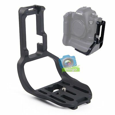 Quick Release L-Bracket Plate Hand Grip For Canon EOS 5D Mark III + Battery Grip