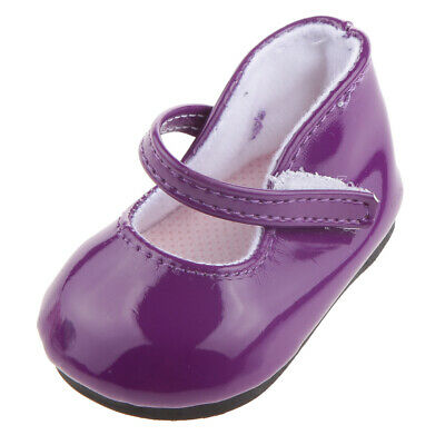 "Purple Mary Jane Shoes for 18"" Our Generation/American Girl AG /Journey Doll"