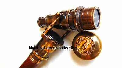 Antique Finishing Brass Telescope Handle Walking Canes-Home Decor Solid Canes