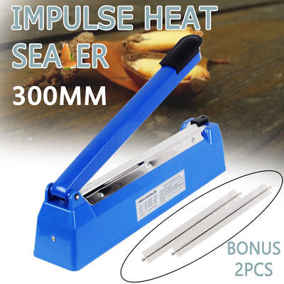 Brand New Impulse Heat Sealer 300mm Electric Plastic Poly Bag Sealing Machine AU