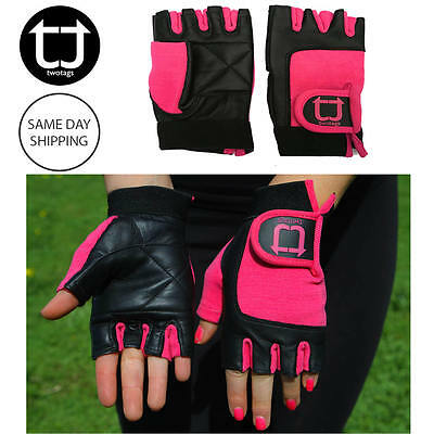 TWOTAGS Gym Gloves WOMEN FITNESS WEIGHT LIFTING WRIST WORKOUT CYCLING TRAINING 5