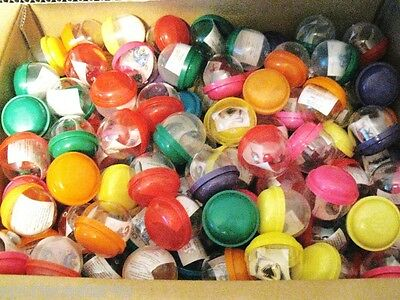 """25 NEW Vending Machine Capsules 2 inch 2"""" Assorted Colors Tattoo Prize Inside"""