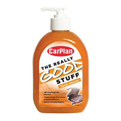 Carplan Orange Pump Natural Hand Cleaner Gel With Polybeads Garage Workshop