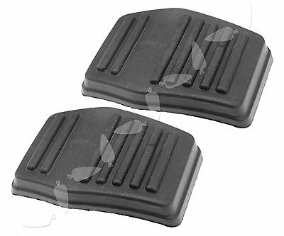 2pcs Black Clutch or Brake Pedal Pad Rubber Cover For Ford Transit MK6