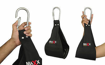 Maxx Ab Crunch Sling AB Straps Weight Lifting Door Hanging Gym Chinning Bar Hook