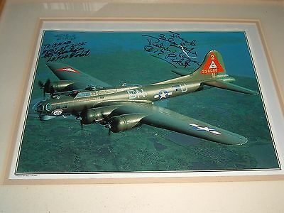 Signed by Pilot WWII B-17 BOMBER Picture