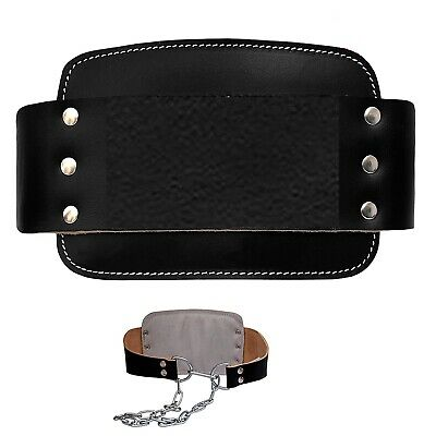 NEW Leather Dipping Belt Dip Chin Up Weight Lifting Body Building with Chain
