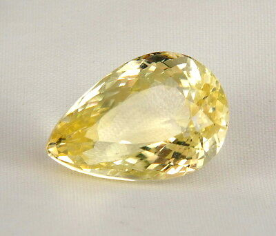 TOP HIDDENITE : 24,04 Ct Natürlicher Gelber Hiddenit ( Yellow Kunzite )