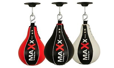 Maxx Leather Speed Ball & Swivel Boxing PunchBag Punching Training MMA Speedball