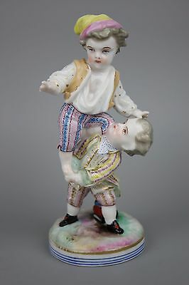 Antique 19C Jean Gille Figurine Two Boys WorldWide
