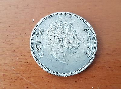 Iraq 100 Fils 1953 KM#115 King Faisal II VF Circulated Silver Coin