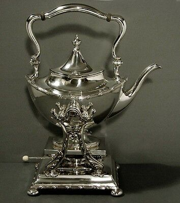TIFFANY Sterling Teapot & Stand TEA KETTLE w BURNER 78 oz Museum Quality Vintage
