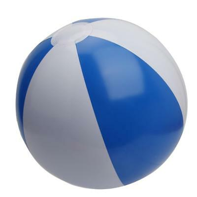 Inflatable Beach Ball Football Swimming Pool Holiday Party Toy Blue & White