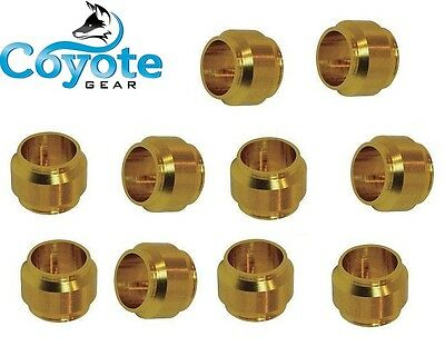 10 Pack Lot 4mm Tube Ferrule Brass Compression Sleeve Ring Fittings Coyote Gear