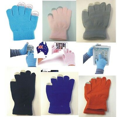 Fashion Winter Warm Knit Easy Click Touch Screen Smart Phone Gloves Gift GT