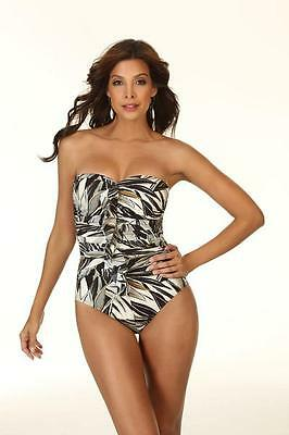 Miraclesuit Camilla Miracle Bandeau Swim Suit Bathing Resort