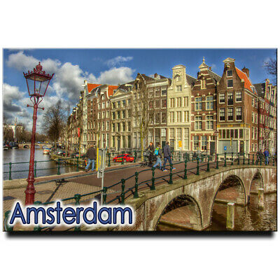 Fridge magnet with view of Amsterdam, Netherlands