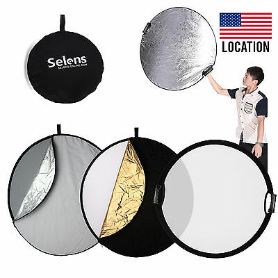 """Handheld 110cm 43"""" 5in1 Light Multi Collapsible Reflector Board Disc"""