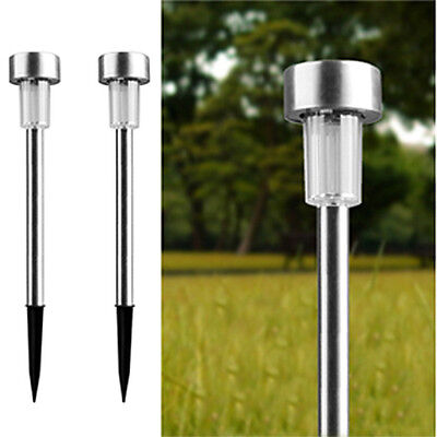 12 Pack Outdoor Stainless Steel Led Solar Power Light Lawn Garden Landscape Path