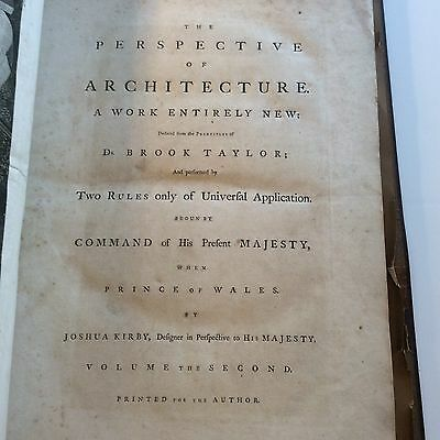 1761 Joshua Kirby 'The Perspective of Architecture'  Principles of Brook Taylor