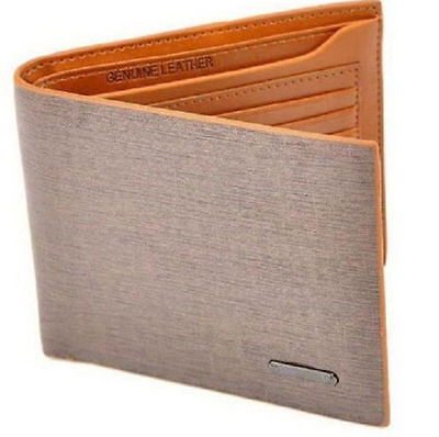 NEW Mens Leather Bifold Clutch Credit/ID Card Holder Wallet Coin Purse