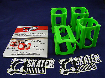 Skater Trainer V2.0 Set Of 4 - Enough For 1 Deck - New - (Green)