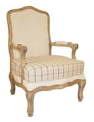 French Louis Armchair Shabby Chic Bed Room Antique Bedroom Oak Rustic Relax