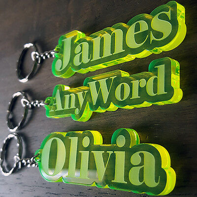 Personalised FROZEN KEYRING KEYCHAIN MADE TO ORDER ANY NAME SCHOOL BAG PLATE