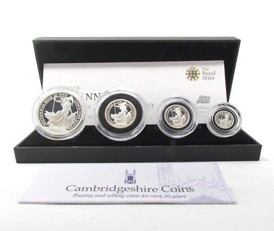 2012 fine silver proof four coin Britannia set box coa Royal mint