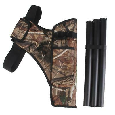 Portable Camouflage Archery Arrow Belt Quiver Holder Pouch with 3 Tubes