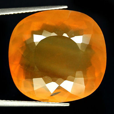 TOP COLLECTOR'S BIG OPAL : 28,31 Ct Natürlich Orange Gelb Feuer Opal aus Mexiko