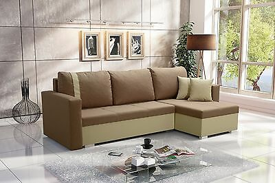 Corner Sofa Bed Cheap Couch With 2 Bedding Storages Fabric Modern NEMO Sofa bed