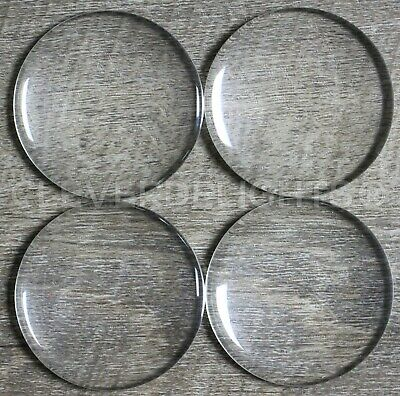 10 Round Glass Dome Cabochons - 50mm - 2 Inch - Clear Magnifying Cab Wafer - 2""