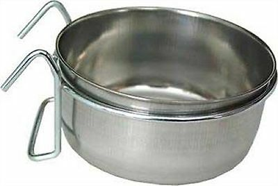 Loving Pets Stainless Steel Coop Bird Cup with Hanger 30 oz
