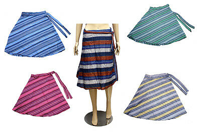 5pcs-100pcs Cotton Hippie Gypsy Women's Short Wrap Around Skirts Wholesale Lot
