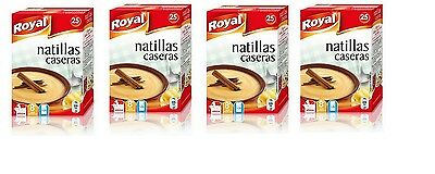 4 x BOXES NATILLAS TRADITIONAL SPANISH DESSERT (TOTAL 100 SERVINGS)