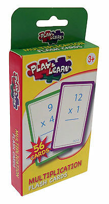 Multiplication Educational Flashcards - Childrens Teaching Resource New F002