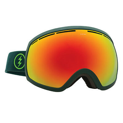 Electric EG2 Ski & Snowboard Goggles Hunter Green / Red Chrome BONUS LENS
