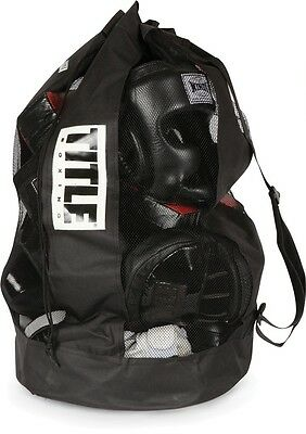 Title Boxing Mesh Equipment Bag Sack Pack MMA Training Gear Gym Bag